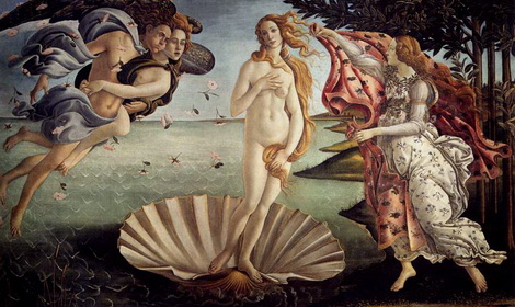 The Birth of Venus  by Sandro Botticelli, mid 1480s