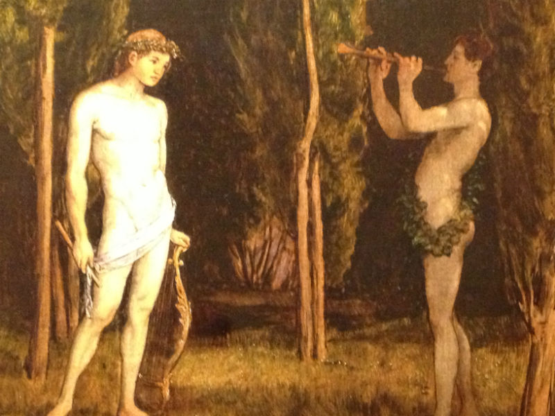 Hans Thoma Apollo and Marsyas, 1888 Oil on board 101 x 73.5 cm (39 3/4 x 28 7/8 in.)