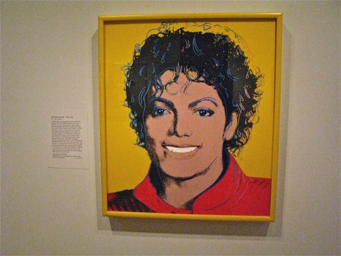 Michael Jackson By Andy Warhol, the National Portrait Gallery.