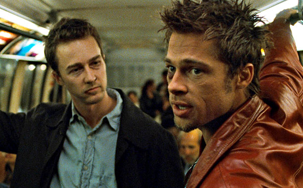 Fight Club (1999) Edward Norton and Brad Pitt (Screengrab)