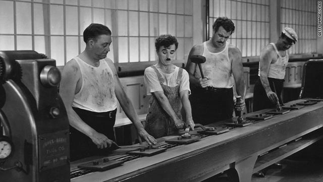 זמנים מודרניים (Modern Times) 1936. במאי צ'ארלי צ'פלין (Chaplin)
