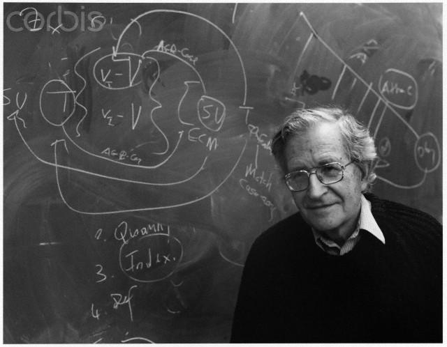 ca. 2000 --- Noam Chomsky --- Image by © Christopher Felver/Corbis