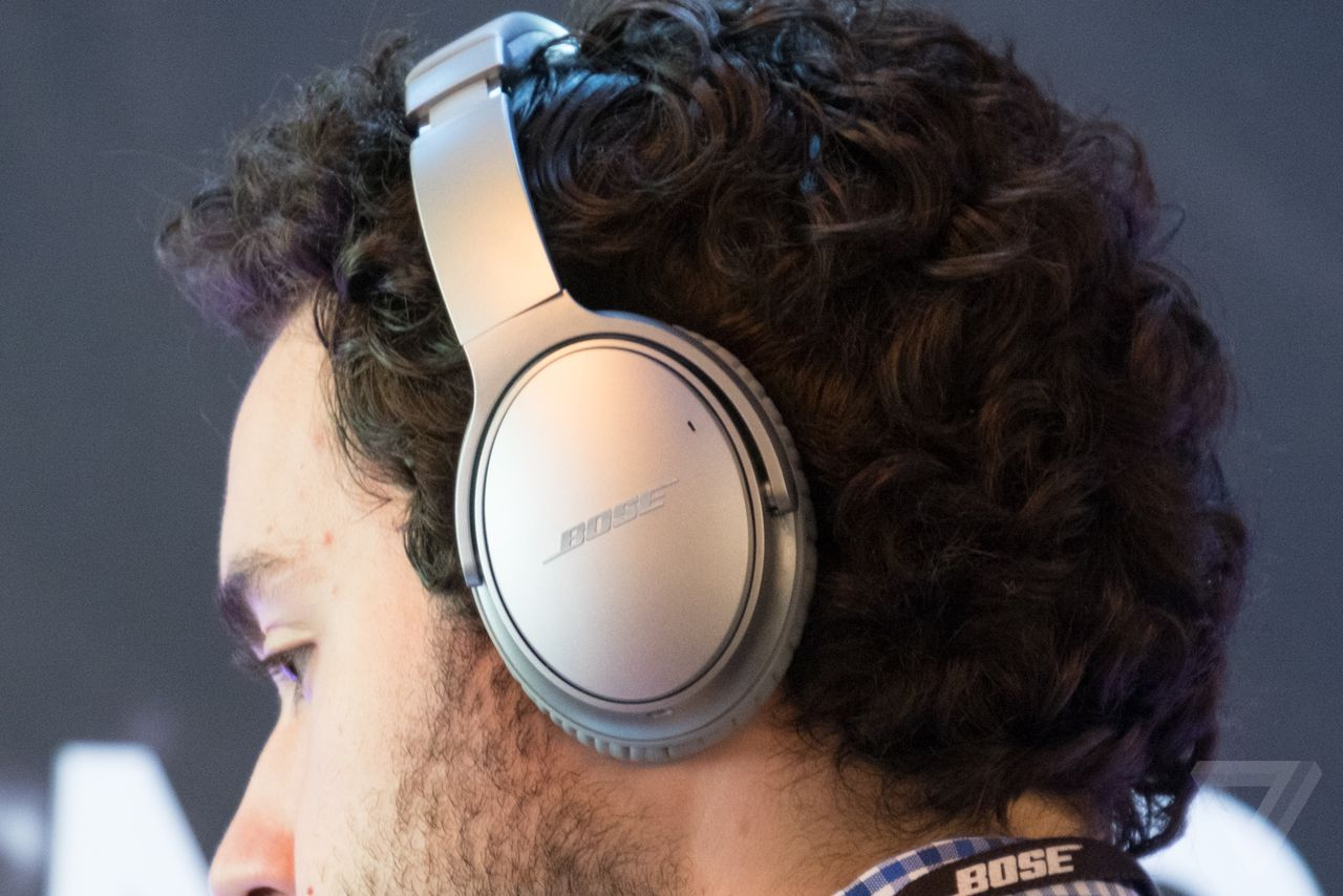 The Bose QC 35 headphones