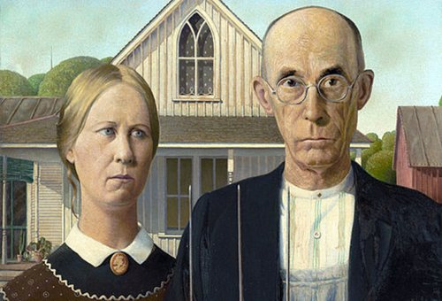 American Gothic by Grant Wood, 1930