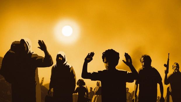 מתוך הסרט: ואלס עם באשיר (2008). איור: דוד פולונסקי. במאי: ארי פולמן.