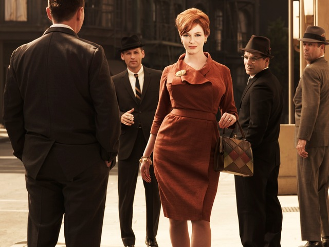 Christina Hendricks as Joan P. Holloway in Mad Men TV series