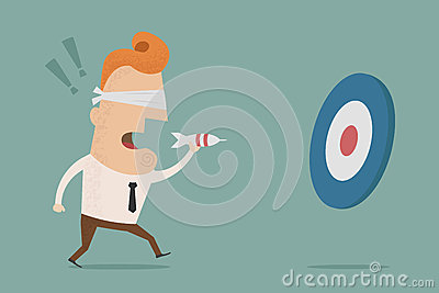 © Ratch0013 | Dreamstime.com - Businessman trying to hit a target with darts
