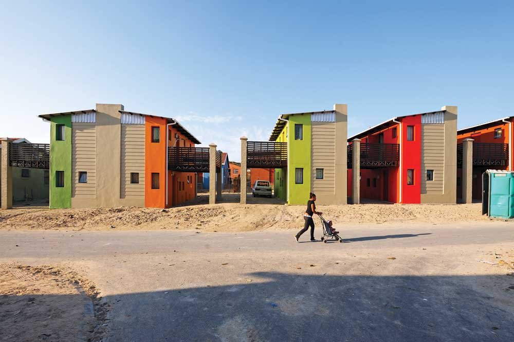 The 10x10 houses in Freedom Park, Mitchell Plains, Cape Town, South Africa. Unknown Photographer