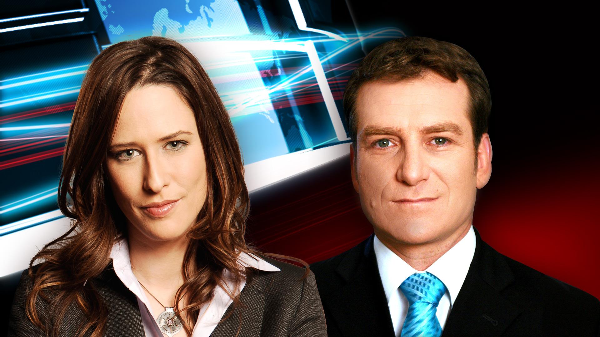 מגישי חדשות2: יונית לוי ודני קושמרו. צילום: ערוץ2