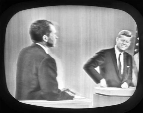 ג'ון קנדי , בעימות הטלוויזיוני מול ריצ'רד ניקסון 1960.