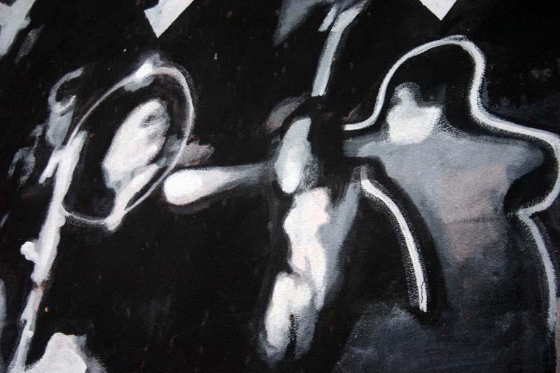 רצח רבין, ציור קיר בשכונת פלורנטין מאת יגאל שתיים. (ברשות האמן)