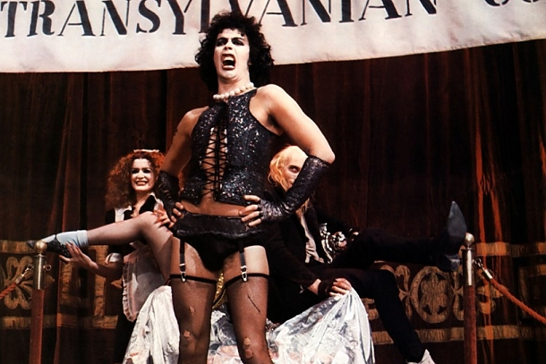 Rocky Horror Picture Show. A film by Jim Sharman Starring Tim Curry, Susan Sarandon, Richard O'Brien, Charles Gray, Meatloaf, Barry Bostwick