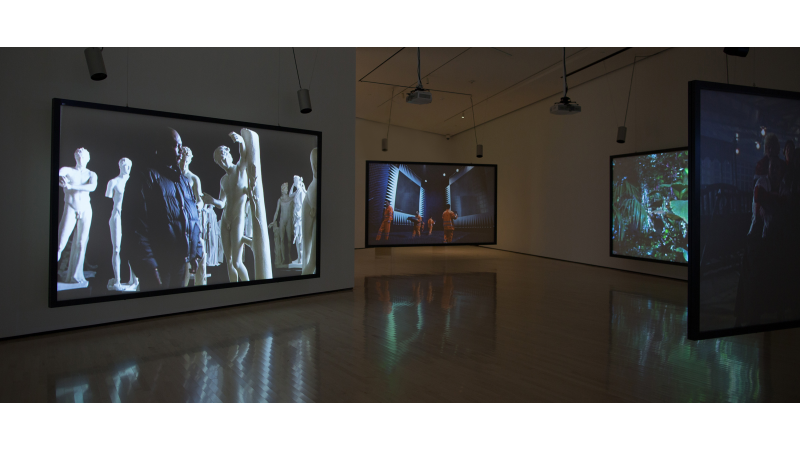 Moving Time: Video Art at 50, 1965–2015, installation view at the Eli and Edythe Broad Art Museum at Michigan State University, 2015, photo courtesy Eat Pomegranate Photography