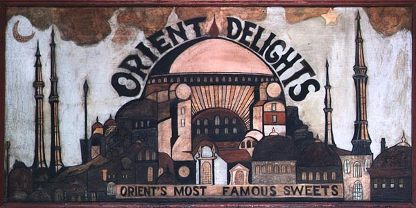 Unidentified artist, Orient Delights Orient's Most Famous Sweets, c. 1920, 36 x 72
