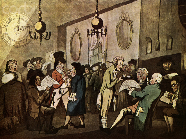 Edward Lloyd's Coffee house, in London. William Holland, 1789