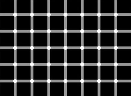 """Scintillating Grid Illusion."" From MathWorld--A Wolfram Web Resource. http://mathworld.wolfram.com/ScintillatingGridIllusion.html"